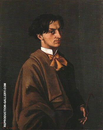 Monsieur Nodler the Younger 1865 By Gustave Courbet Replica Paintings on Canvas - Reproduction Gallery