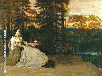 The Lady of Frankfurt 1858 By Gustave Courbet - Oil Paintings & Art Reproductions - Reproduction Gallery