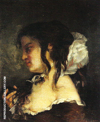 Reflection also know as Meditation 1864 By Gustave Courbet Replica Paintings on Canvas - Reproduction Gallery