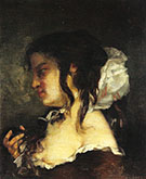 Reflection also know as Meditation 1864 By Gustave Courbet