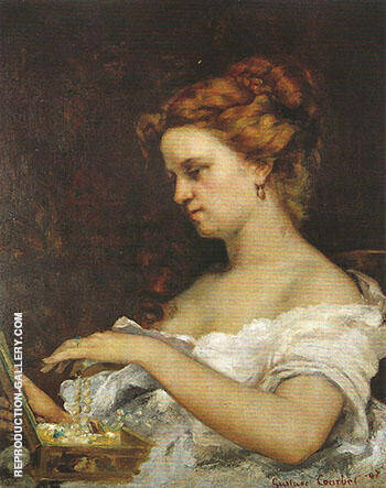 Lady with Jewels 1867 Painting By Gustave Courbet - Reproduction Gallery