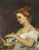 Lady with Jewels 1867 By Gustave Courbet