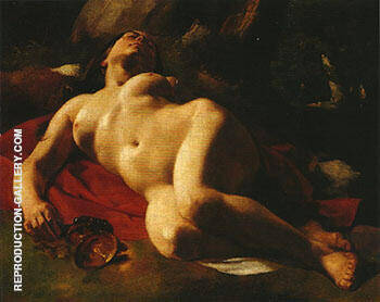 Bacchante ca.1844 By Gustave Courbet