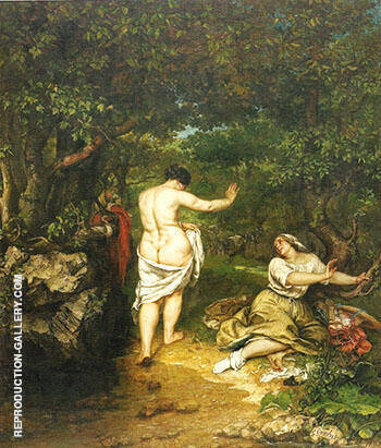The Bathers 1853 By Gustave Courbet