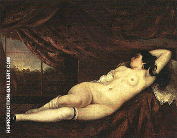 Recling Nude 1862 By Gustave Courbet