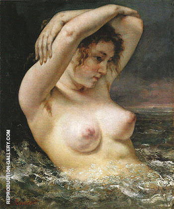 The Woman in the Waves 1868 Painting By Gustave Courbet