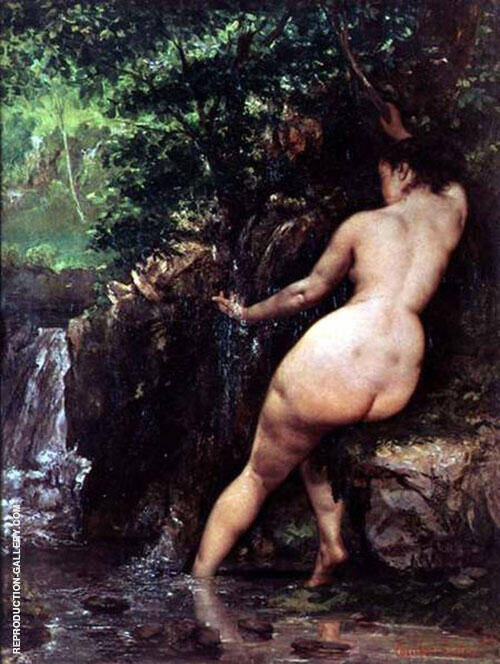 The Source Bather 1868 By Gustave Courbet