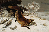 The Fox in the Snow 1860 By Gustave Courbet