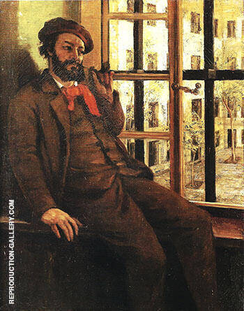 Self-Portrait at Saine Pe'lagie 1872-73 By Gustave Courbet