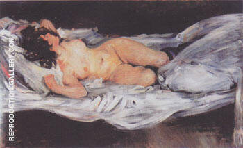 Reproduction of Reclining Nude 1899 by Lovis Corinth | Oil Painting Replica On CanvasReproduction Gallery