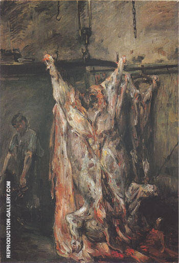 The Slaughtered Ox 1905 By Lovis Corinth - Oil Paintings & Art Reproductions - Reproduction Gallery