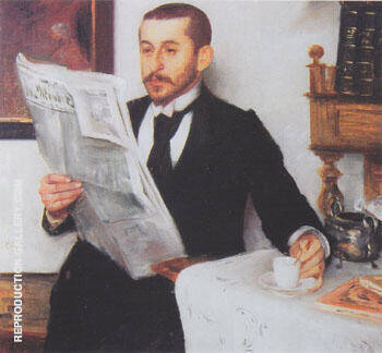 Portrait of the Painter Benno Becker 1892 By Lovis Corinth