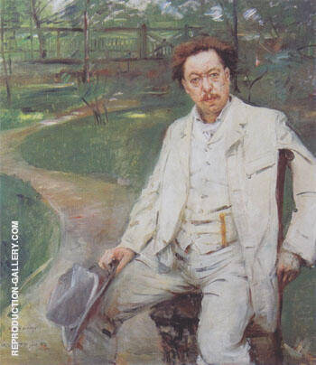 Portrait of the Pianist Conrad Ansorge 1903 Painting By Lovis Corinth