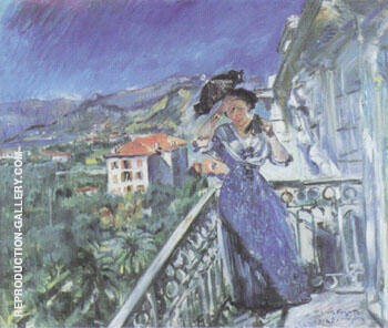 On the Balcony in Bordighera 1912 By Lovis Corinth - Oil Paintings & Art Reproductions - Reproduction Gallery