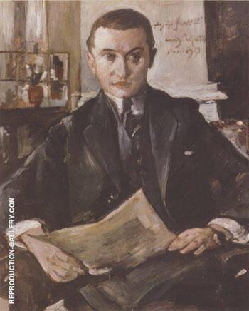 Portrait of Wolfgang Gurlitt 1917 By Lovis Corinth