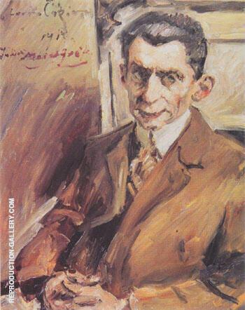 Portrait of Julius Meier Graefe 1917 By Lovis Corinth