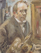 Self Portrait with Palette 1924 By Lovis Corinth