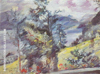 Walchensee View of the Wetterstein 1921 By Lovis Corinth - Oil Paintings & Art Reproductions - Reproduction Gallery