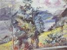 Walchensee View of the Wetterstein 1921 By Lovis Corinth