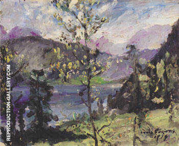 Walchensee Landscape 1919 By Lovis Corinth - Oil Paintings & Art Reproductions - Reproduction Gallery
