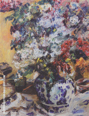 Still Liffe with Lilacs 1922 By Lovis Corinth
