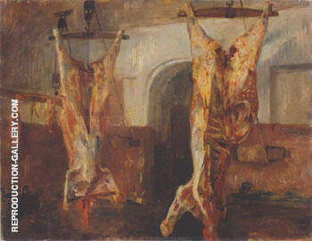 Slaughtered Calves 1896 By Lovis Corinth Replica Paintings on Canvas - Reproduction Gallery
