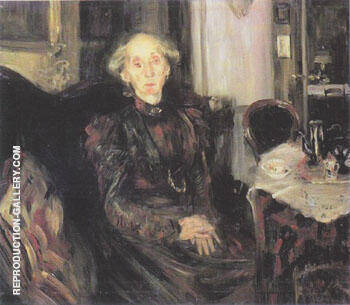 Portrait of Mother Rosenhagen 1899 By Lovis Corinth