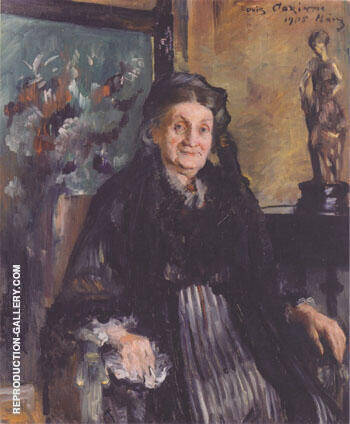 Frau Marie Moll 1905 By Lovis Corinth - Oil Paintings & Art Reproductions - Reproduction Gallery