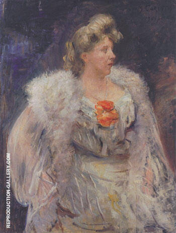The Singer Frieda Halbe 1905 By Lovis Corinth - Oil Paintings & Art Reproductions - Reproduction Gallery