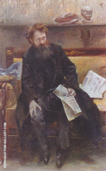 Portrait of the Poet Peter Hille 1902 By Lovis Corinth - Oil Paintings & Art Reproductions - Reproduction Gallery