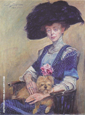 Portrait of Frau Luther 1911 By Lovis Corinth Replica Paintings on Canvas - Reproduction Gallery