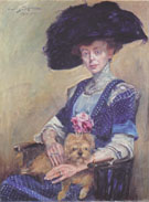 Portrait of Frau Luther 1911 By Lovis Corinth