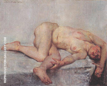 Recling Female Nude 1907 By Lovis Corinth - Oil Paintings & Art Reproductions - Reproduction Gallery