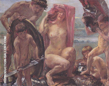 The Weapons of Mars 1910 By Lovis Corinth - Oil Paintings & Art Reproductions - Reproduction Gallery