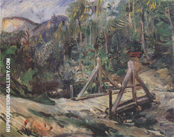 Tyrolean Landscape with Bridge 1913 By Lovis Corinth - Oil Paintings & Art Reproductions - Reproduction Gallery