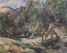 Tyrolean Landscape with Bridge 1913 By Lovis Corinth