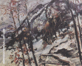 The Herzogstand on Walchensee in the Snow 1922 Painting By Lovis Corinth