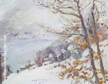 The Walchensee in Winter 1923 By Lovis Corinth - Oil Paintings & Art Reproductions - Reproduction Gallery
