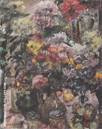 Still Life with Chrysanthemums and Amaryllis 1922 By Lovis Corinth - Oil Paintings & Art Reproductions - Reproduction Gallery