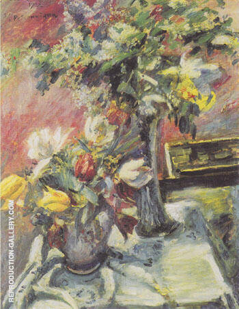 Reproduction of Lilac and Tulips 1922 by Lovis Corinth | Oil Painting Replica On CanvasReproduction Gallery