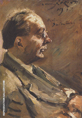 Portrait of Herbert Eulenberg 1918 Painting By Lovis Corinth
