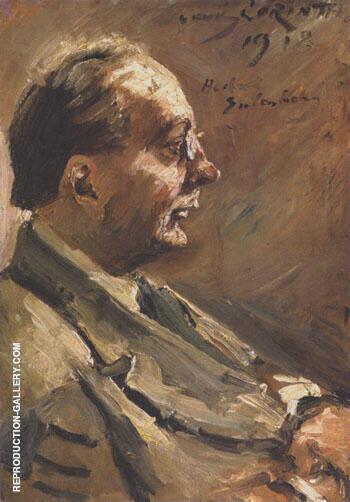 Portrait of Herbert Eulenberg 1918 By Lovis Corinth