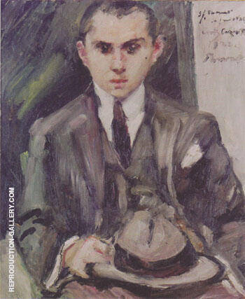 Thomas with his Hat in his Hand 1922 By Lovis Corinth - Oil Paintings & Art Reproductions - Reproduction Gallery