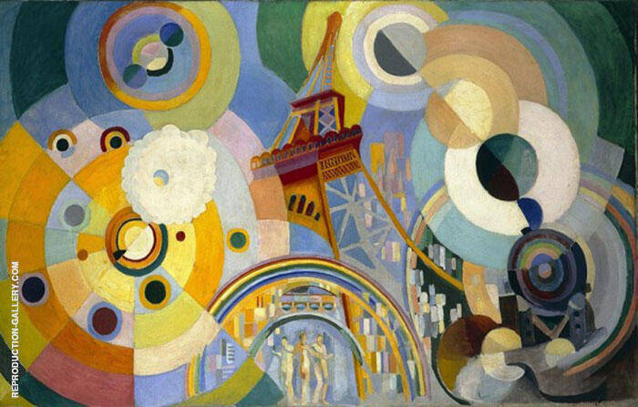Air Iron and Water 1936 Painting By Robert Delaunay - Reproduction Gallery