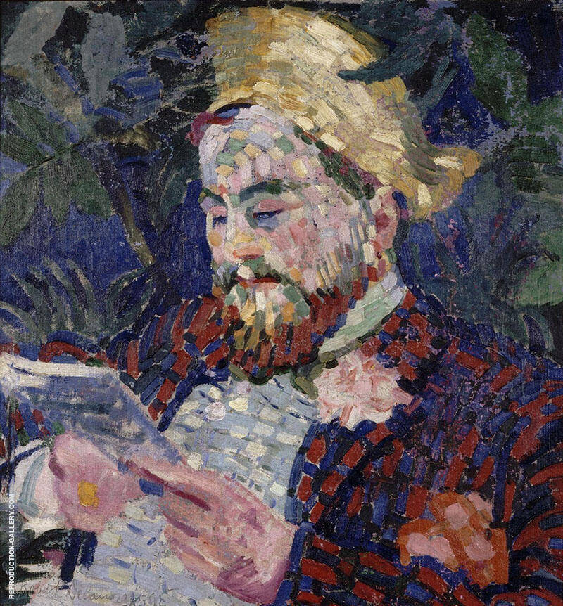 Portrait of Henri Carlier 1906 By Robert Delaunay Replica Paintings on Canvas - Reproduction Gallery