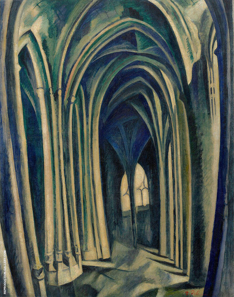 Saint Severin No.3 1909 Painting By Robert Delaunay - Reproduction Gallery