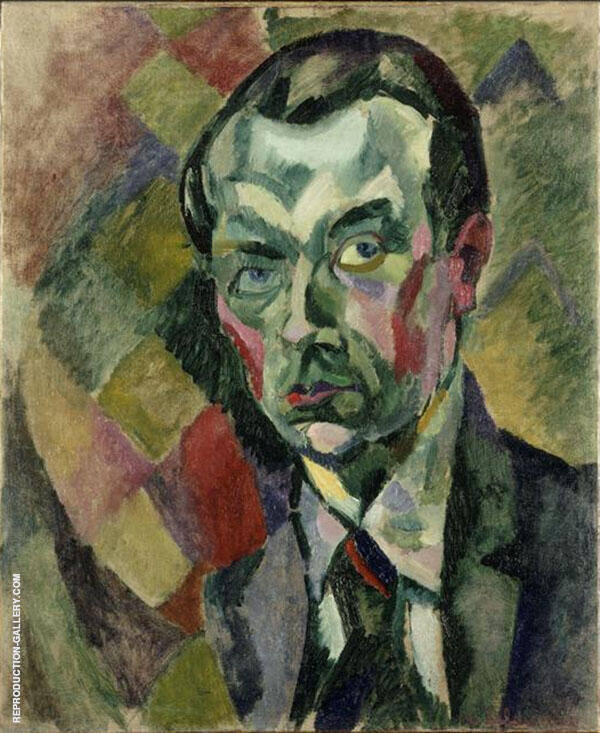 Self Portrait 1909 Painting By Robert Delaunay - Reproduction Gallery