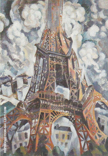 A Eiffel Tower 1910 By Robert Delaunay - Oil Paintings & Art Reproductions - Reproduction Gallery