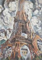 A Eiffel Tower 1910 By Robert Delaunay
