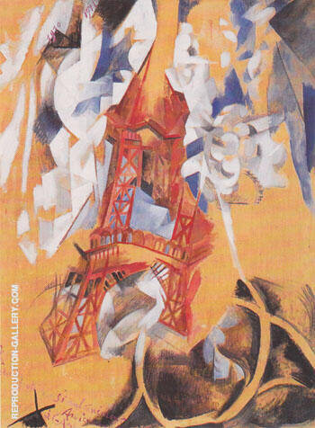 B Eiffel Tower 1910 By Robert Delaunay